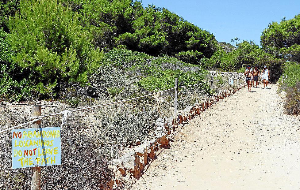 Das Gelände neben den Zugangswegen wurde renaturiert und Hinweisschilder angebracht.