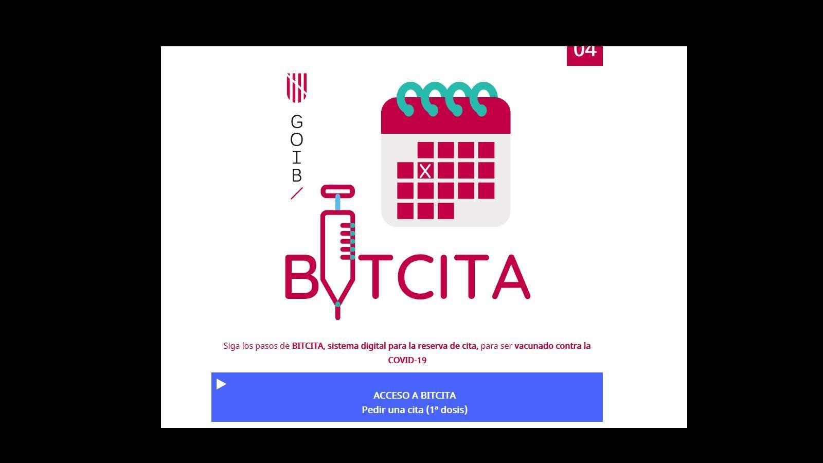 Auf Acceso a Bitcita klicken.
