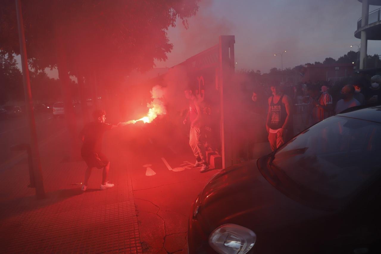 In Palmas Straßen feierten Anhänger den Aufstieg des Inselclubs. (Foto: Jaume Morey)