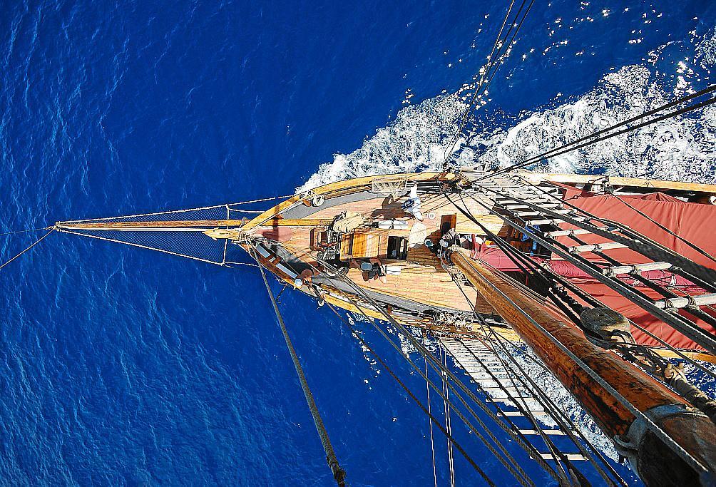 Die Tovtevaag ist 110 Jahre alt und war ursprünglich ein norwegisches Fischerboot.