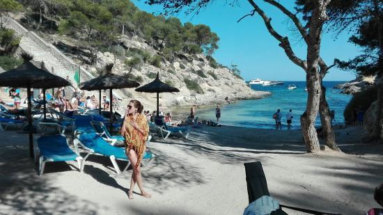 Der Strand von Cap Falcó.