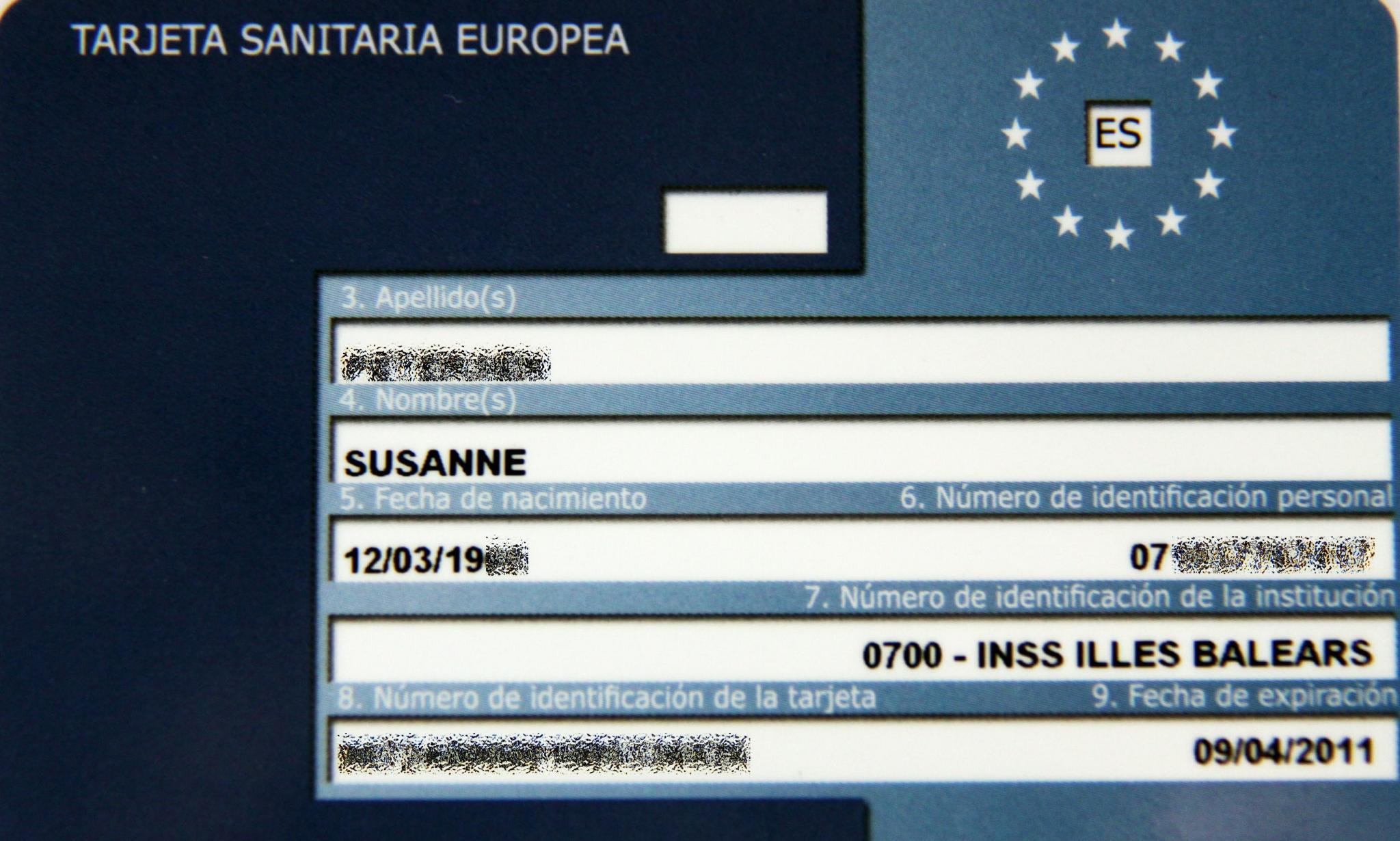 Ehic Karte.Europäische Krankenversicherungskarte