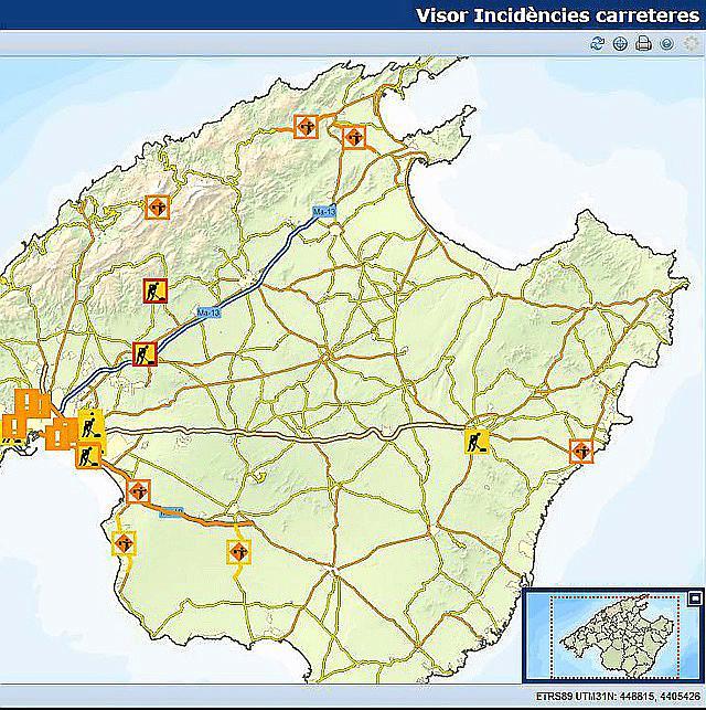 Unwetter Mallorca Karte.Infos Zu Baustellen Und Straßensperrungen