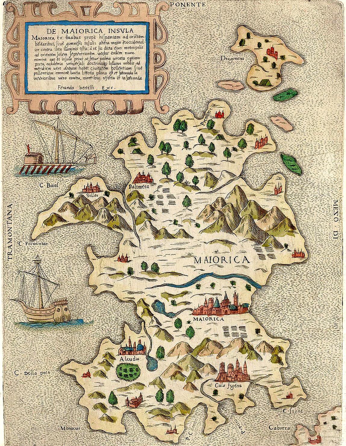 Mallorca Karte Alcudia.Die Total Verwirrende Mallorca Landkarte Von 1565