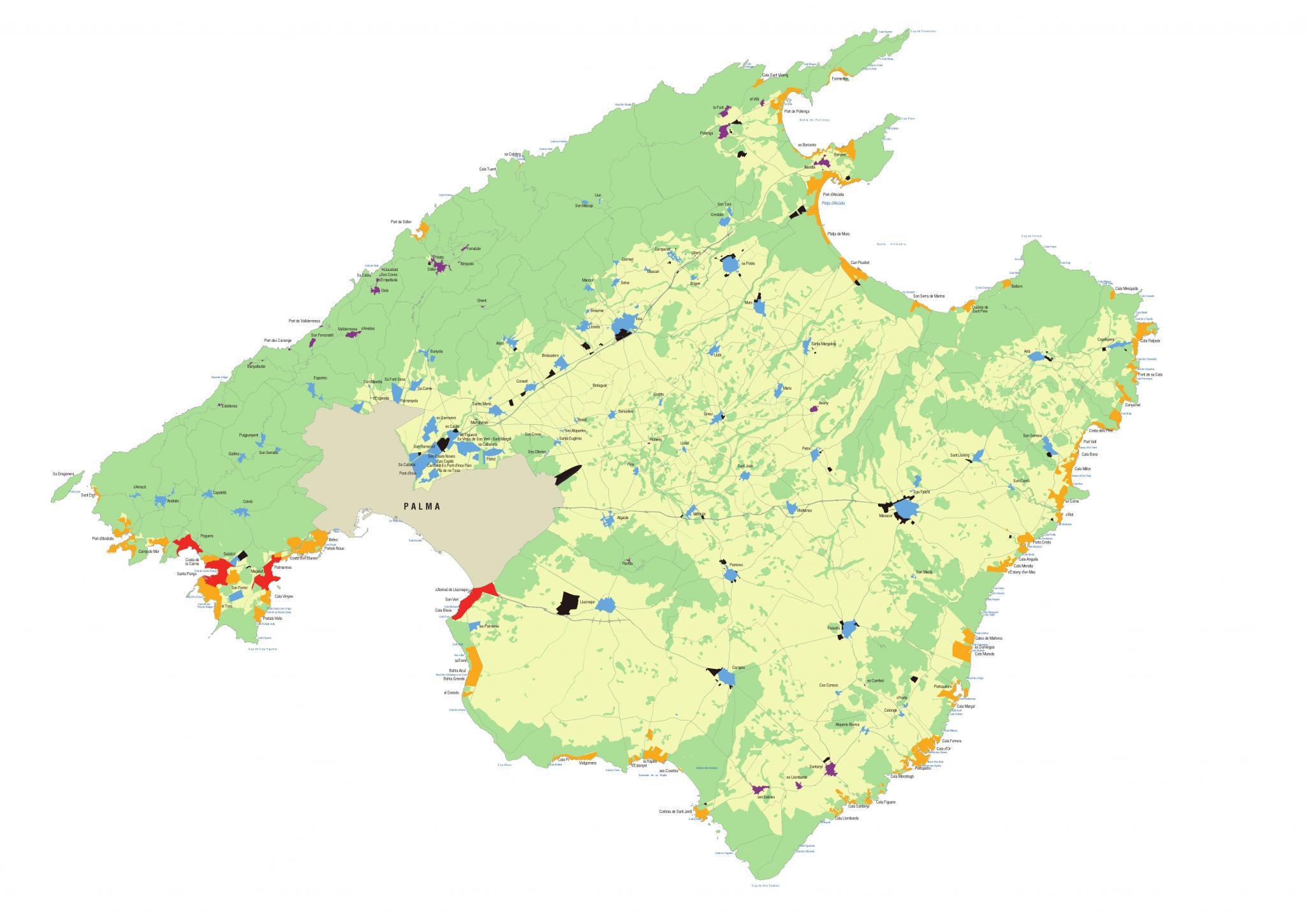 Mallorca Karte Paguera.Ferienvermietung Das Sind Die Sieben Zonen Für Mallorca