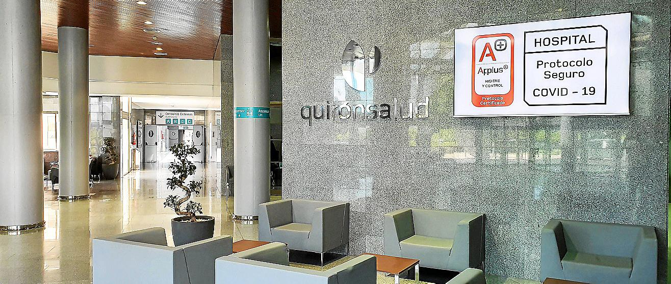 Auch das Hospital Quirónsalud Palmaplanas setzt mit zertifizierten Schutzprotokollen auf Sicherheit gegen Covid-19-Infektionen.