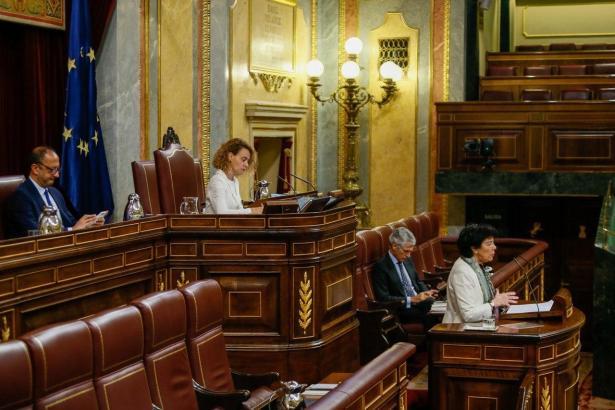 Blick in den Parlamentssaal in Madrid.