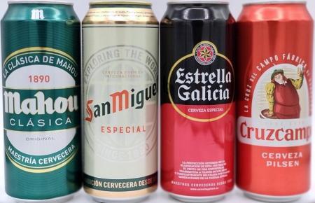 Mahou, Estrella Galicia, San Miguel, Cruzcampo.