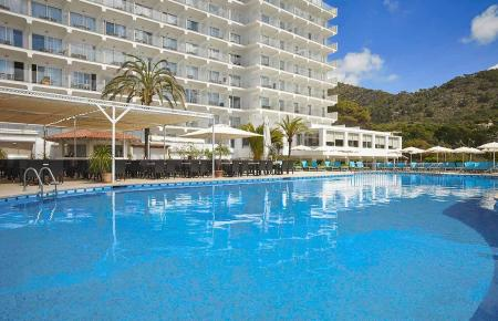 Das Hotel Castell Royal in Canyamel.
