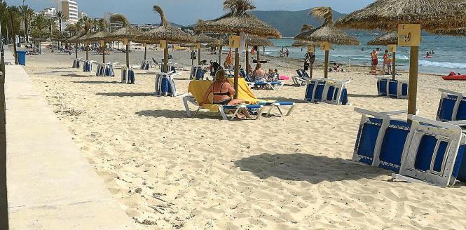 So sieht es im Augenblick auf dem Strand von Cala Millor aus.