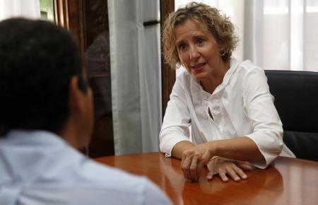 Aina Calvo während des Interviews.