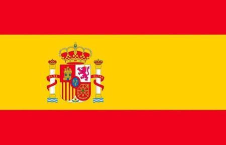 Die Flagge von Spanien.