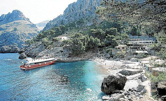 Blick auf die Anlegestelle von Sa Calobra.