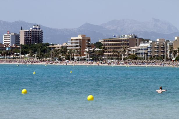 Hotels an der Playa de Palma.