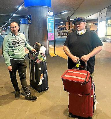 Sven (r.) und Sebi Florijan kehren nach Deutschland zurück.