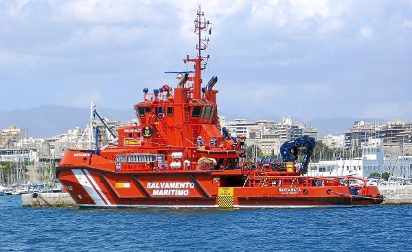Einsatzschiff der Seenotrettung Salvamento Marítimo.