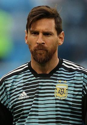 Leo Messi im Trikot der argentinischen Nationalmannschaft.