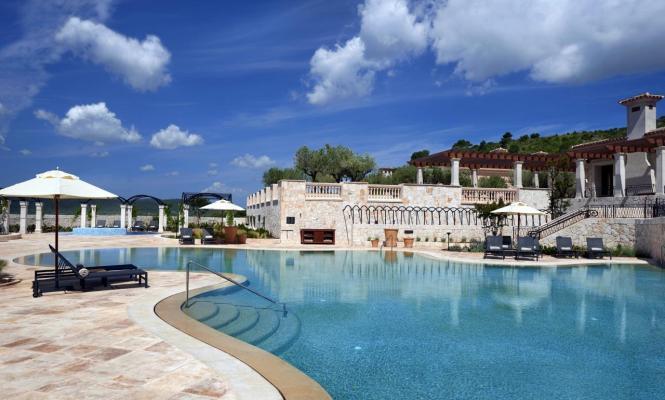 So sieht der Poolbereich des Hyatt-Hotels aus.