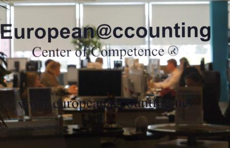 Blick in das Büro von European Accounting.