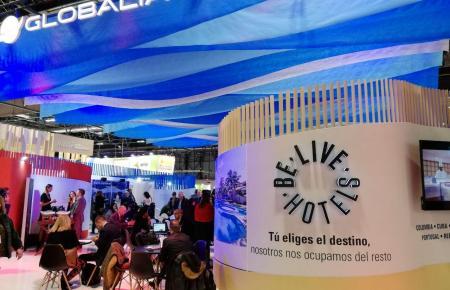 Stand von Globalia auf der Fitur-Messe in Madrid.