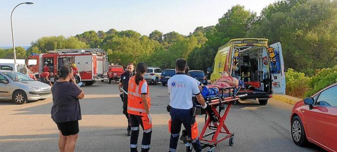 Abtransport der Verletzten.