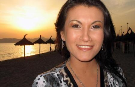 Die Sängerin Antonia aus Tirol auf Mallorca.