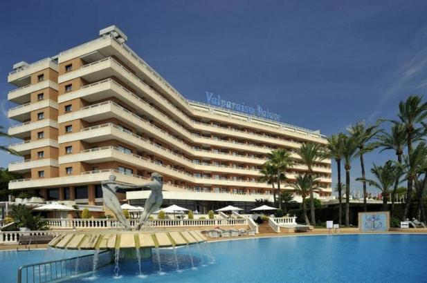 Blick auf das Hotel Valparaíso Palace, wo die Film-Crew nächtigt.