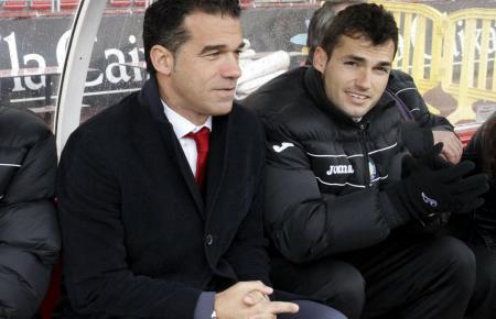 Als Trainer von Getafe war Luis García Plaza (l.) 2013 zu Gast bei Real Mallorca.