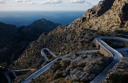 Schwer zu befahren: Straße nach Sa Calobra.