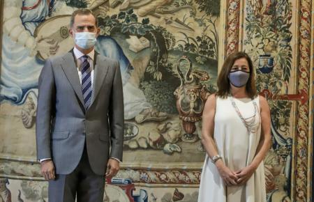 Felipe VI. und Francina Armengol am Montag im Almudaina-Palast.