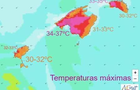 So heiß ist es derzeit auf Mallorca und den Nachbarinseln.