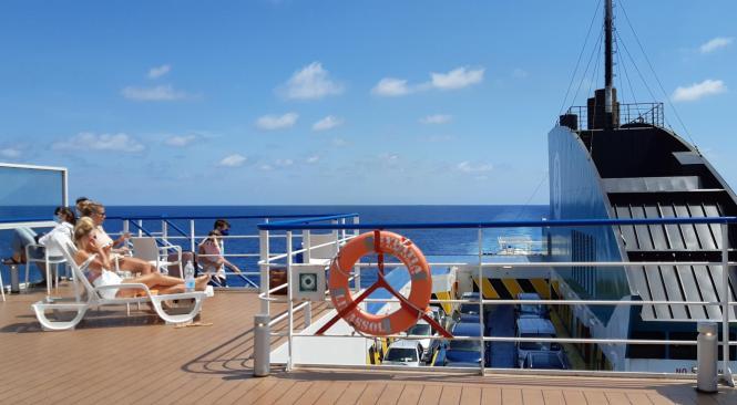 Der Urlaub beginnt schon an Bord.