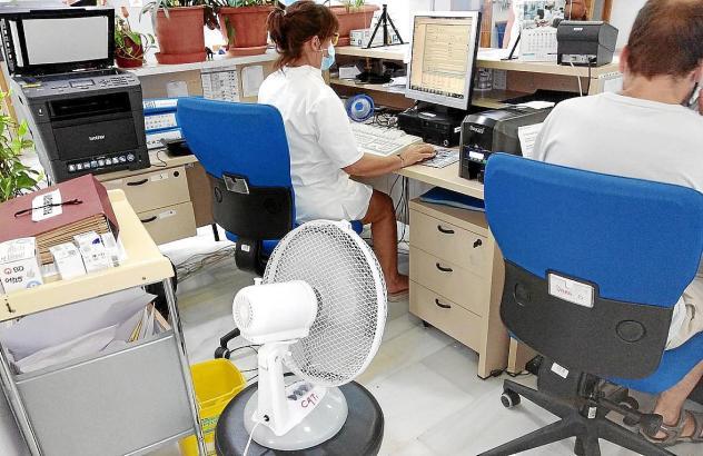 Ventilator in einem Gesundheitszentrum auf Mallorca.