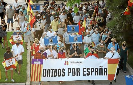 Die Demonstranten forderten ein einiges Spanien.