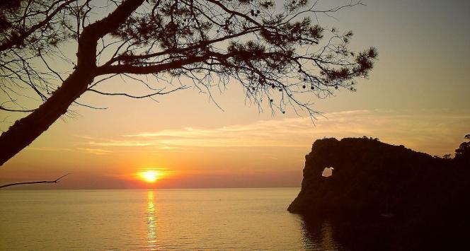 Sonnenuntergang bei Sa Foradada.