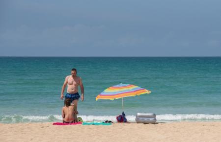 Deutsche Urlauber an der Playa de Palma.
