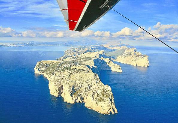 Ranzenberger beim Überflug des Kap Formentor.