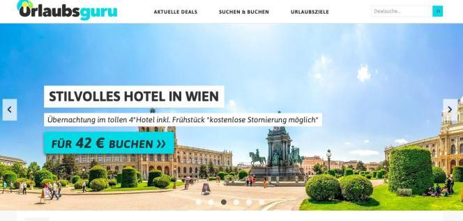 Urlaubsguru vermittelt Reiseschnäppchen im Internet.
