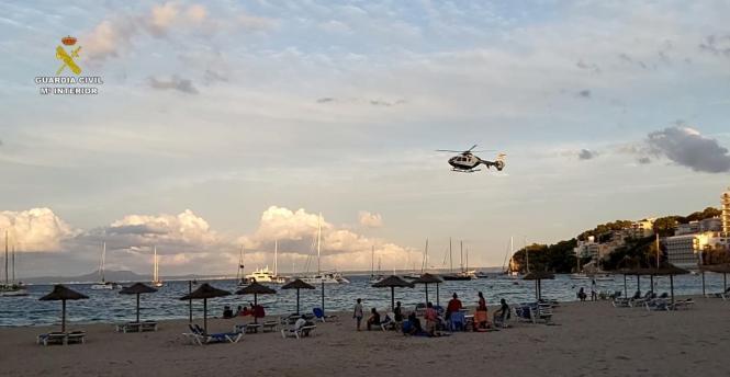 So kontrolliert die Guardia Civil auf Mallorca die Strände.