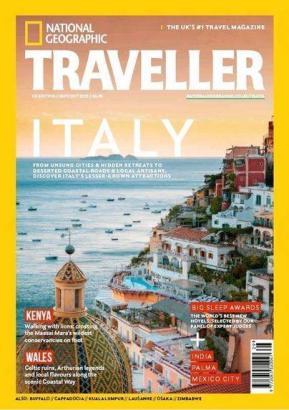Titelblatt der aktuellen Ausgabe von National Geographic Traveller.