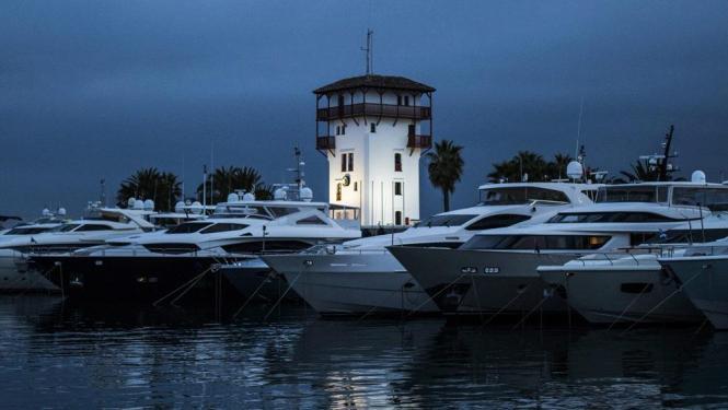Boote im Hafen von Puerto Portals.