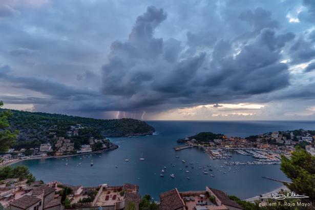 So ging das Unwetter über Port de Sóller nieder.