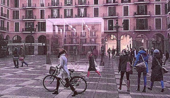 So soll der Platz nach dem Willen der Einzelhändler künftig aussehen.