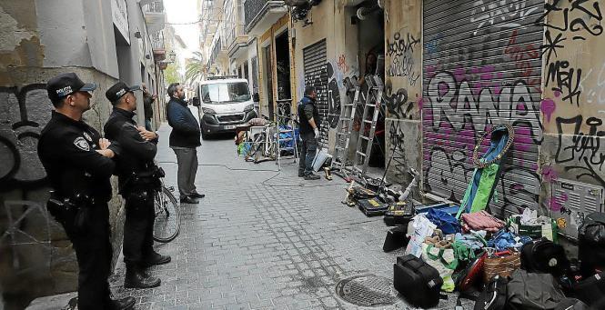 Räumung eines besetzten Hauses in Palma.