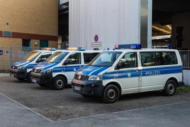 Einsatzwagen der Bundespolizei in Berlin.