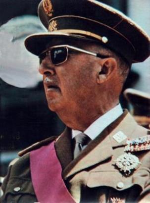 Diktator Francisco Franco.