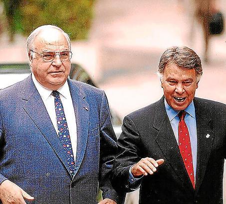 Helmut Kohl unf Felipe González.