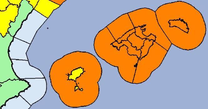 Die Wetterkarte von Aemet für Freitag.