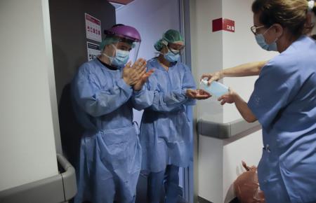 Coronaspezialisten im Son-Espases-Krankenhaus.