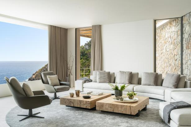 Blick in ein Interior-Design-Projekt in Canyamel.